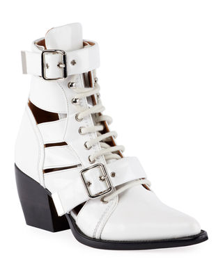 Chloe Rylee Lace-Up Box Calf Boot