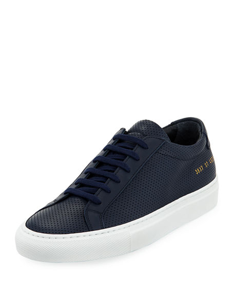 Common Projects Navy & White Original Achilles Low Premium Sneakers e5kFdN