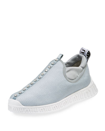 Jeweled Slip-On Trainer Sneaker