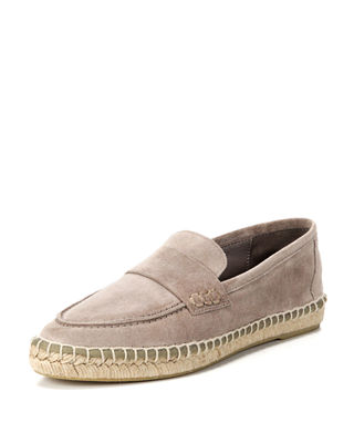 Daria Suede Flat Espadrille Loafer