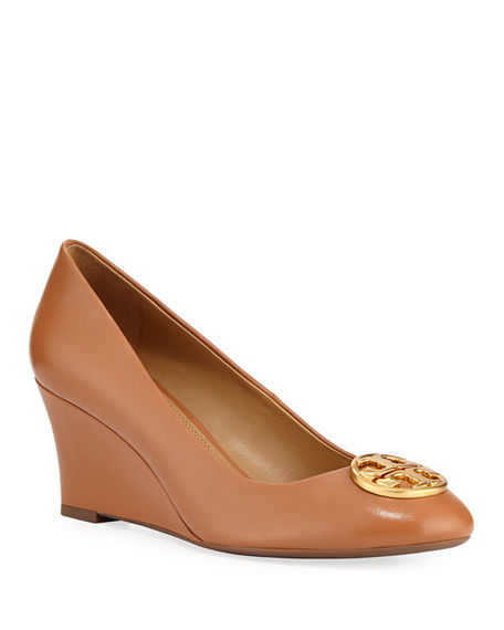 Image 1 of 3: Tory Burch Chelsea Wedge Medallion Pump