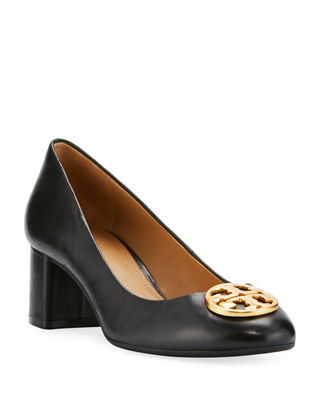 Tory Burch Leather Perforated Pumps