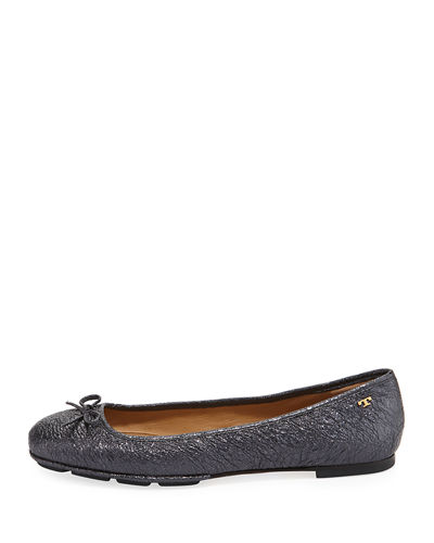 Laila 2 Metallic Leather Driver Ballet Flat