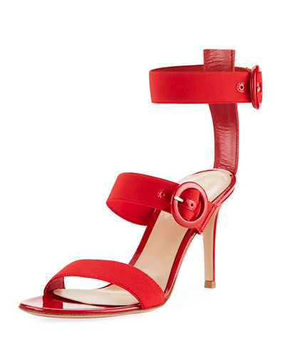 Elastic Multi-Strap High Sandal