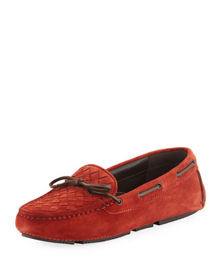 Image 1 of 4: Intrecciato Suede Slip-On Driver