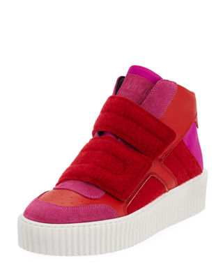 Image 1 of 3: Colorblock Platform High-Top Sneaker