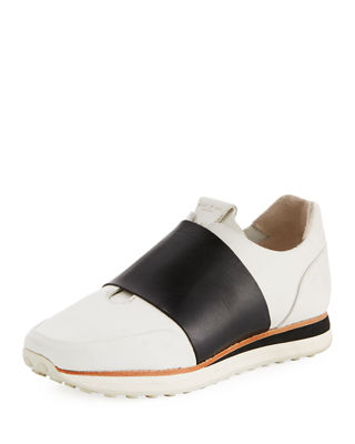 Rag And Bone White And Black Dylan Elastic Runner Sneakers in 143 Wht/Blk