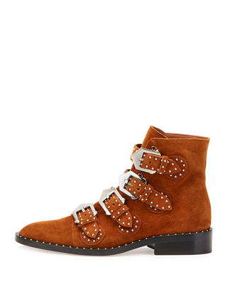 Image 2 of 3: Elegant Studded Suede Ankle Boot