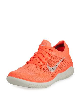 Women'S Free Rn Flyknit 2018 Running Shoes, Pink, Crimson Pulse/ Sail