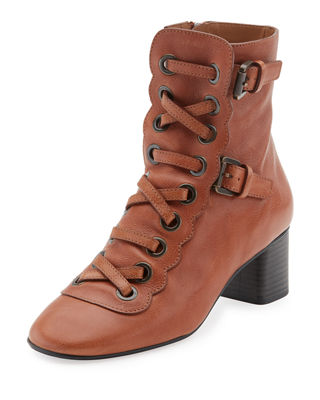 Chloe Orson Lace-Up 30mm Bootie
