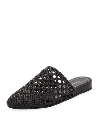 Donald J Pliner Rothkosp Woven Leather Slide Mule