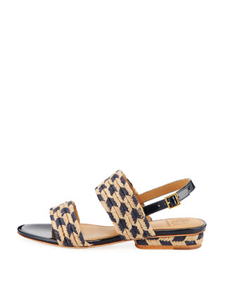 Image 2 of 3: Lola Woven Double Band Sandal