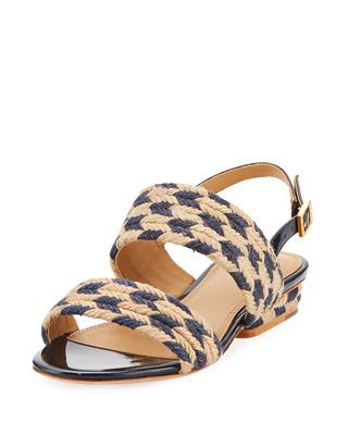 Image 1 of 3: Lola Woven Double Band Sandal
