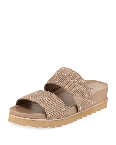 Cait Pleated Comfort Sandal