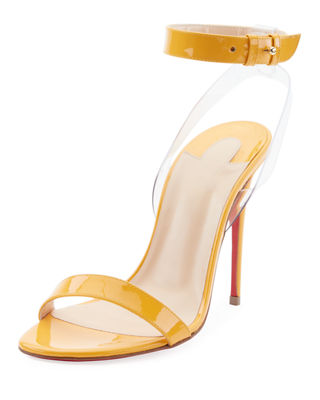 Christian Louboutin Jonatina 100mm Illusion Red Sole Sandal