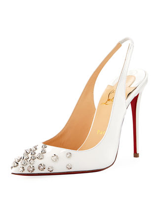 Christian Louboutin Slingback Spike-Embellished Pumps