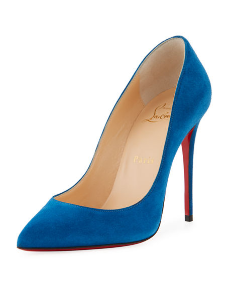Christian Louboutin Pigalle Follies Suede 100mm Red Sole Pump | Neiman Marcus