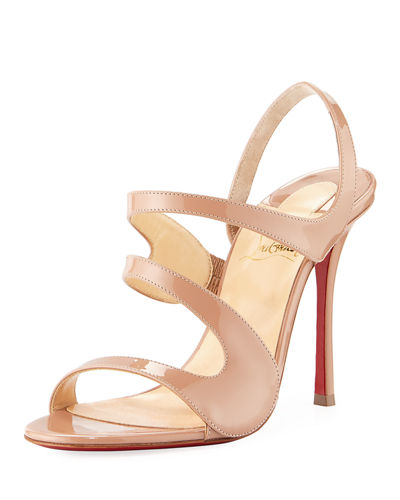 Vavazou Asymmetric Red Sole Sandal