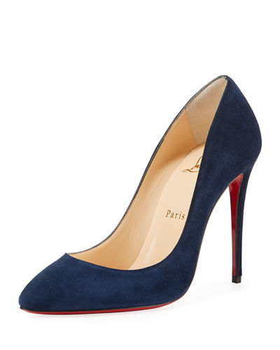 Eloise 100mm Suede Red Sole Pump