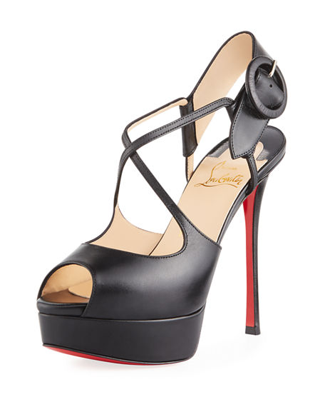 4336254ada00 Christian Louboutin Mirabella Strappy 100Mm Red Sole Pumps In Black ...