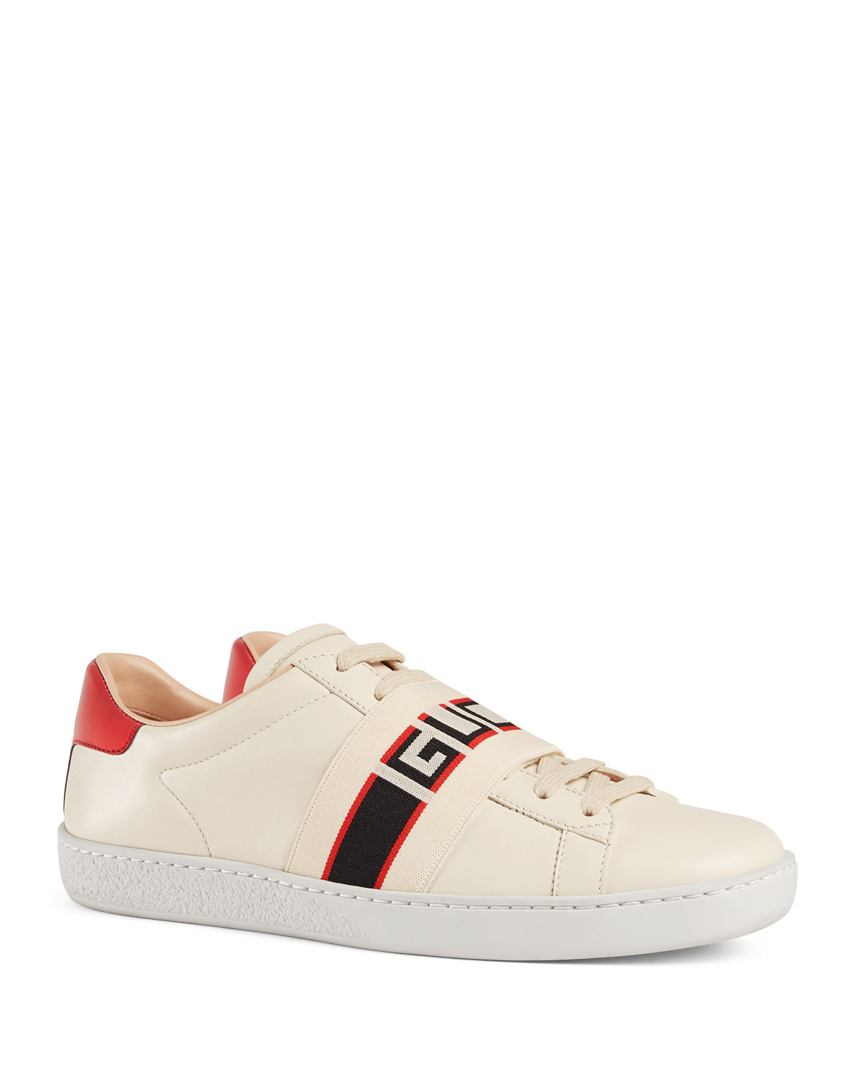 f9a793872f0 Gucci New Ace Gucci Band Leather Sneaker | Neiman Marcus