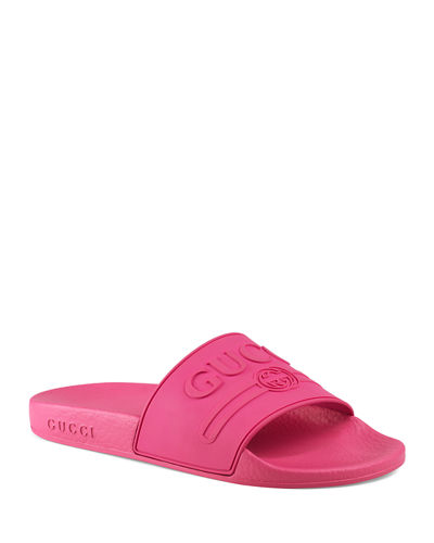 Logo Rubber Pool Slide Sandals