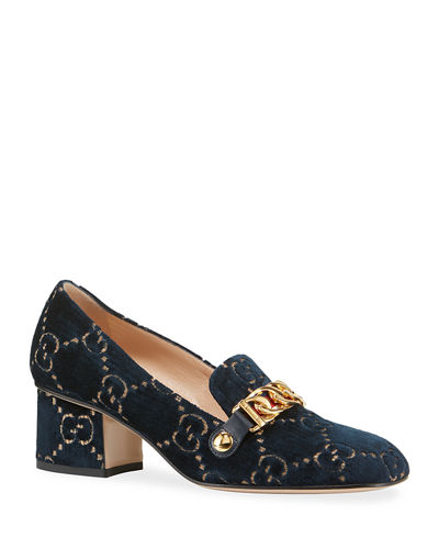 Sylvie 55mm GG Velvet Loafer