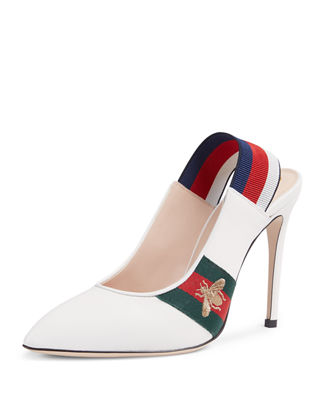 Gucci Sylvie Leather Slingback Pump
