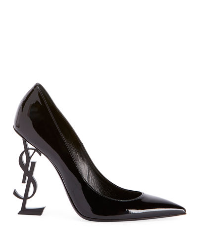OpYum Patent 110mm YSL-Heel Pumps - Tonal Hardware