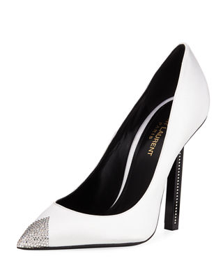 Image 1 of 4: Tower Crystal Cap-Toe Pump
