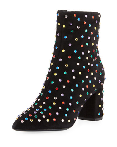 Betty Multicolor Stud Booties