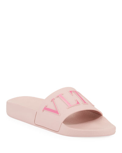 5a981030c0c8 Quick Look. Valentino Garavani · PVC Slide Pool Sandals