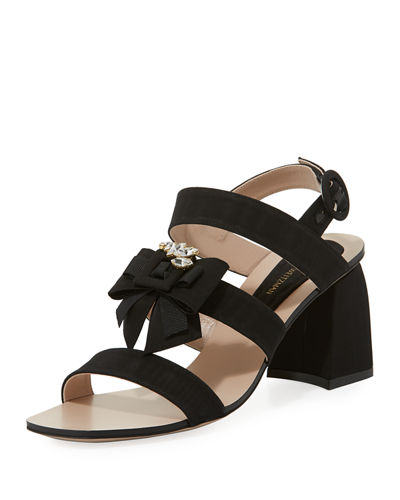 Donna Embellished Grosgrain City Sandal