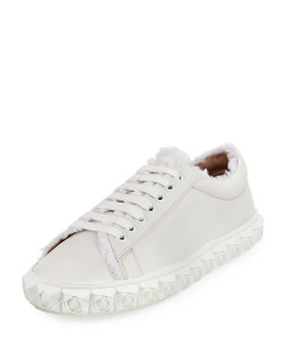 Stuart Weitzman Quilted Low-Top Sneakers