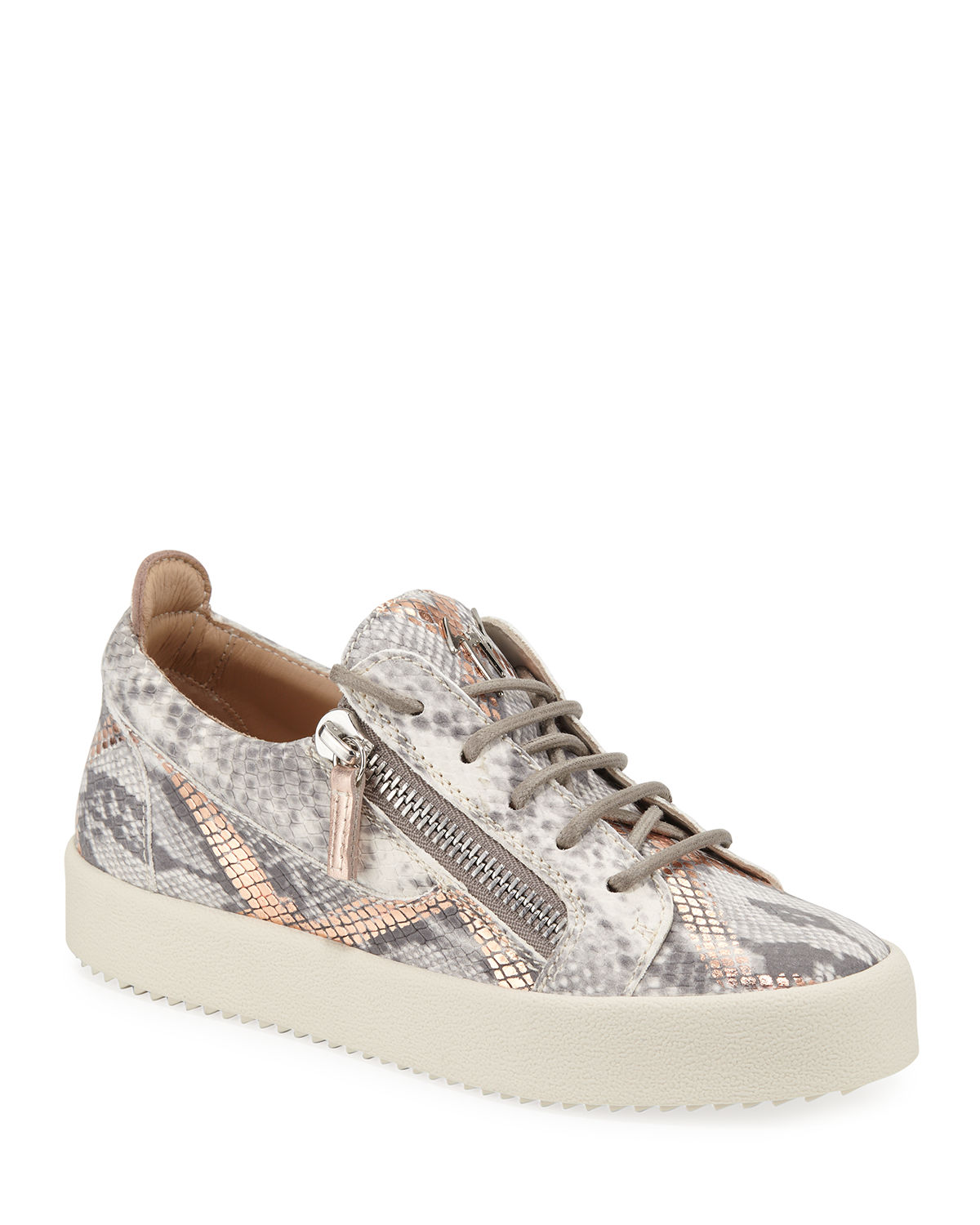 5186bb298b7e Giuseppe Zanotti Embossed Leather Low-Top Sneakers