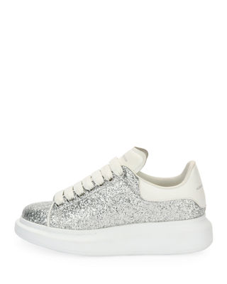 Image 2 of 3: Glitter Lace-Up Platform Sneaker