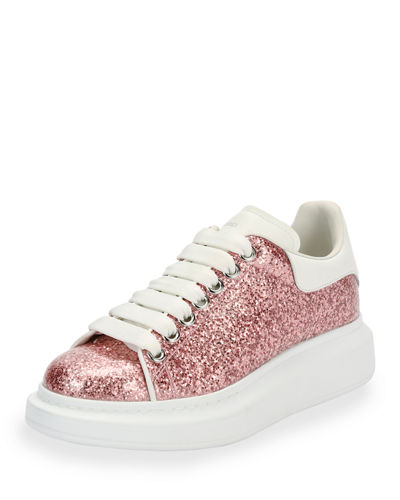 Glitter Lace-Up Platform Sneaker