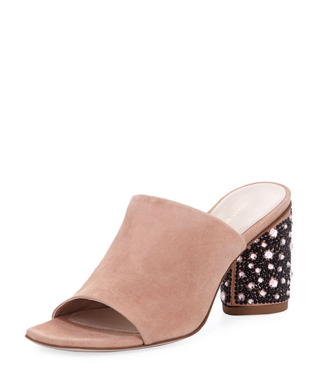 Stuart Weitzman Embellished Leather Mules Outlet For Cheap New Styles Discount Geniue Stockist Official Site Online Free Shipping Geniue Stockist rIWRkTJ2