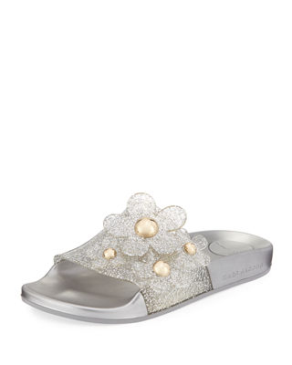 Marc Jacobs Glitter Slide Sandals