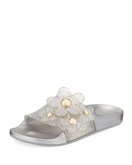 Outlet Countdown Package Free Shipping Cheap Real Marc Jacobs Glitter Slide Sandals Cheap Amazon Outlet Low Price Fee Shipping Supply Cheap Price tTChGH2