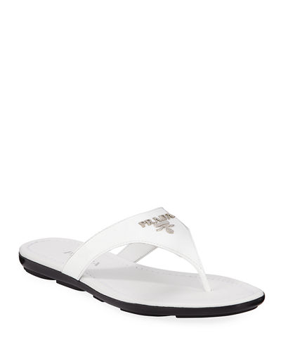 Patent Logo Thong Sandals