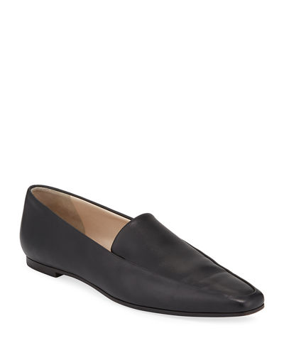 Minimal Leather Flat Loafer