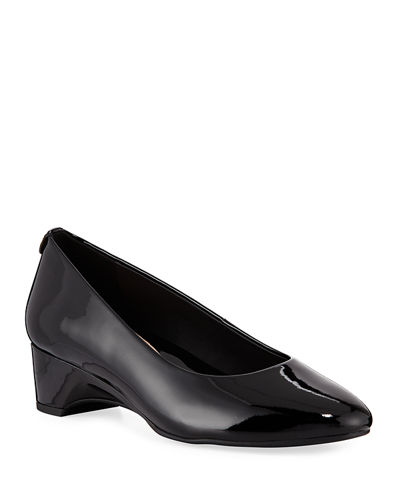 Babs Soft Patent Leather Demi-Wedge Comfort Pump
