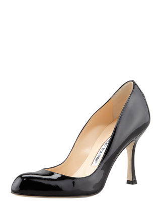 Foka Almond-Toe Patent Leather Pump