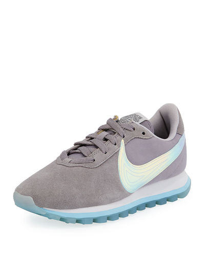 Pre-Love O.X. Suede Sneakers with Holograph Swoosh