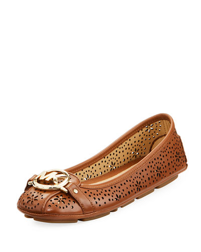 MICHAEL Michael Kors Fulton Perforated Leather Logo Moccasin