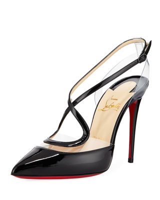 Christian Louboutin Cupidetta Leather and PVC Red Sole