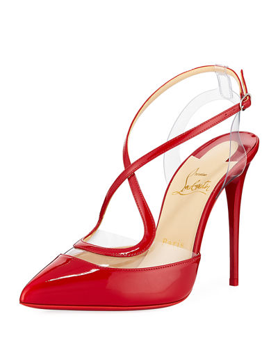 Cupidetta Leather and PVC Red Sole Pump