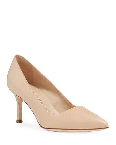Manolo Blahnik BB Leather 70mm Pump