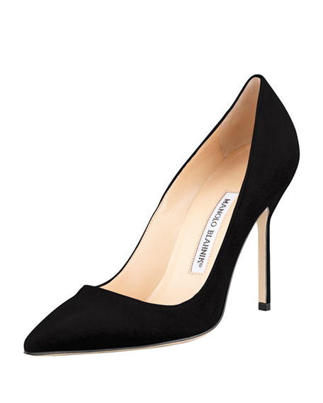 Manolo Blahnik Embellished Suede Pumps footlocker cheap online VuC40